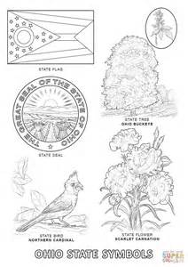 ohio state coloring pages ohio state symbols coloring page free printable coloring