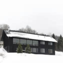 linear mountain house of wood glass and chalet charm mountain chalet is built into the mountain for a