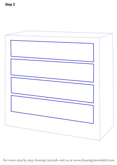 kommode zeichnen learn how to draw a chest of drawers furniture step by