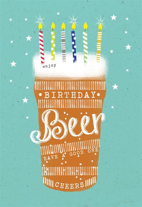 birthday beer birthday card   island