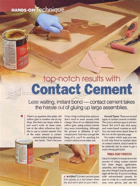 top notch woodworking top notch results with contact cement woodarchivist