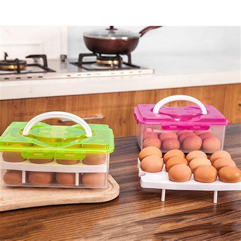 Kotak Telur 2 Tingkat Box Telur kotak penyimpan telur egg tray box green jakartanotebook