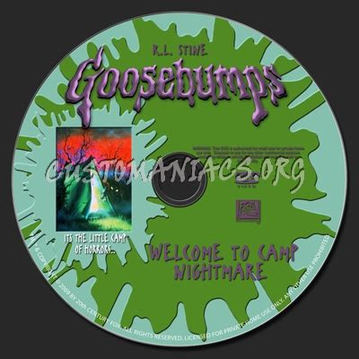 goosebumps doll house goosebumps welcome to c nightmare dvd label dvd covers labels by customaniacs