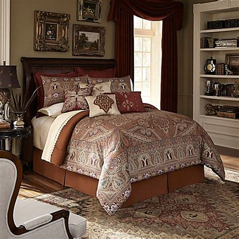 downton abbey bedding buy downton abbey 174 grantham king comforter set in rust