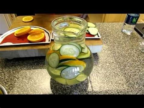 Orange And Cucumber Detox Water by Mint Lemon Drink How To Doovi