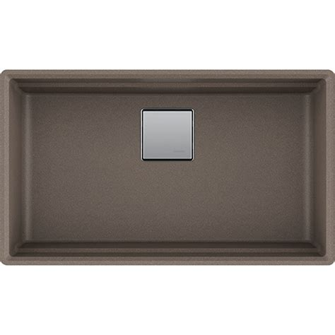 franke granite kitchen sinks franke pkg11031sto peak 32 inch undermount single bowl