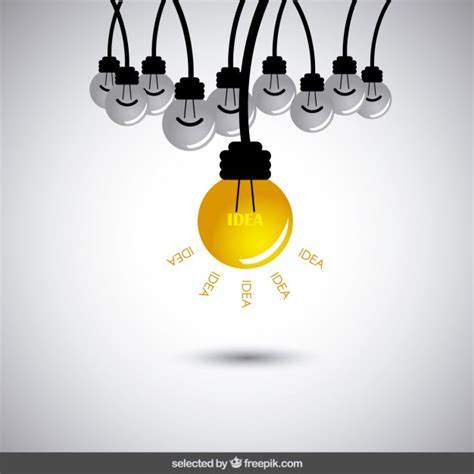 idea pictures idea concept with bulbs vector free download