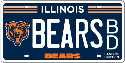 Cyberdriveillinois Vanity Plate by Chicago Bears License Plates