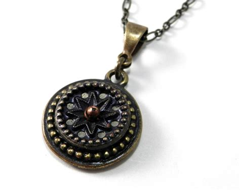 necklace antique button jewelry antique navy blue