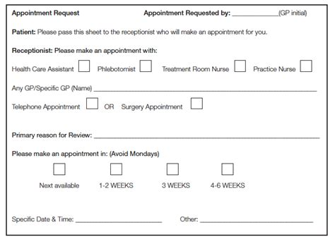 Medical Appointment Slips Bing Images Doctor Appointment Slip Template
