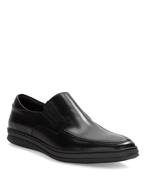bruno magli mens loafers bruno magli radiant leather loafers in black for lyst