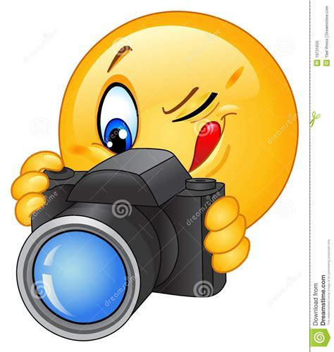 chat camara a camara emoticon della macchina fotografica illustrazione