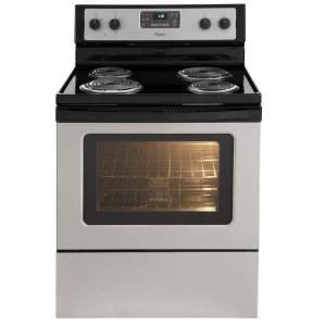 Home Depot Stove Knobs by 4 8 Cu Ft Electric Range With Self Cleaning Oven In