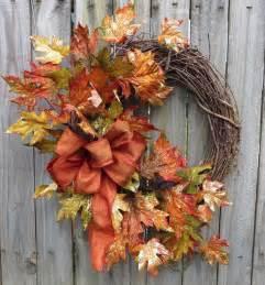 Autumn Wreaths Front Door Fall Wreath Fall Door Wreath Glitzy Fall Front By Hornshandmade 53 00 Door Wreaths