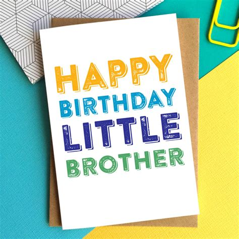 printable birthday cards for little brother happy birthday little brother greetings card by do you