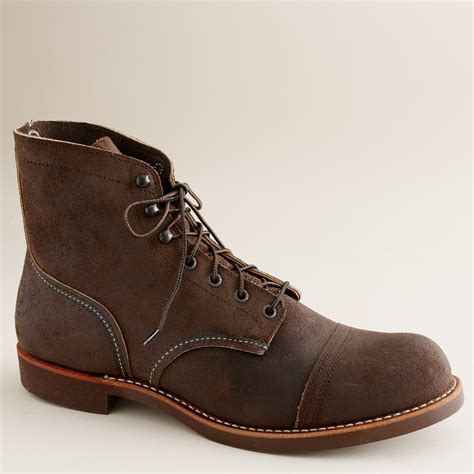 iron ranger boots j crew wing iron ranger boots in brown for