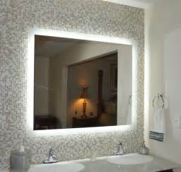 Lighted Bathroom Wall Mirror Large Lighted Vanity Mirrors Wall Mounted Mam94836 48 Quot Wide X 36 Quot Side Lighted Ebay