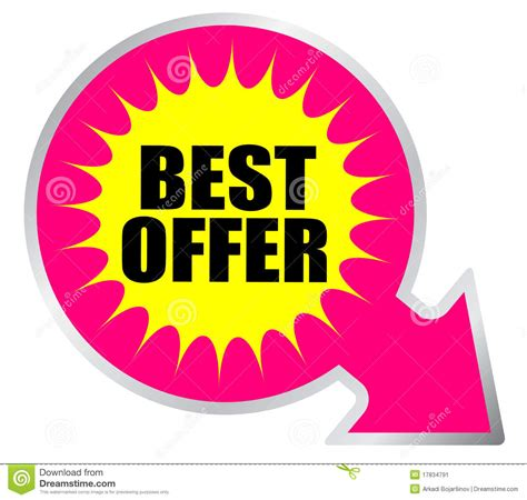 Offer Letter Icon Best Offer Icon Stock Image Image 17834791