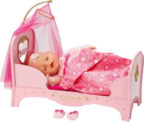 prinzessinnen bett baby born 174 interactive prinzessinnen bett 187 puppenzubeh 246 r