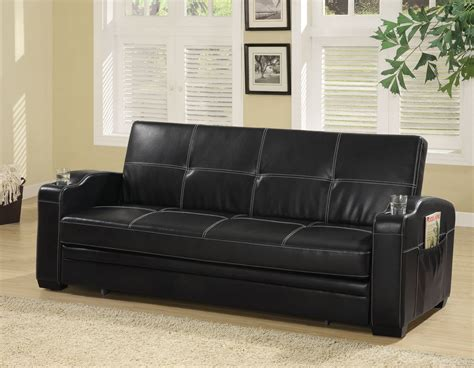 coaster company black sofa bed coaster 300132 sofa bed black 300132 at homelement com