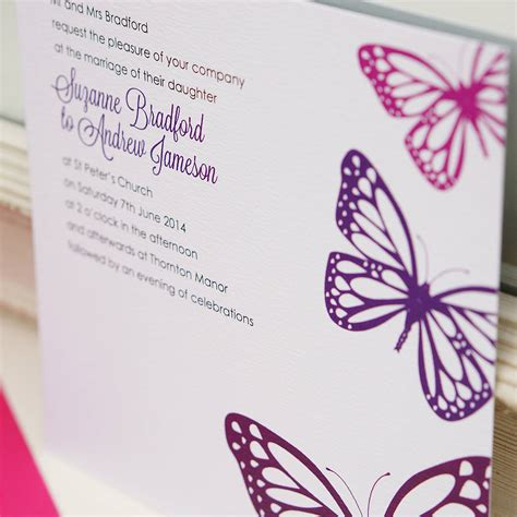 cheap purple wedding invitations cheap butterfly wedding invitations butterfly wedding