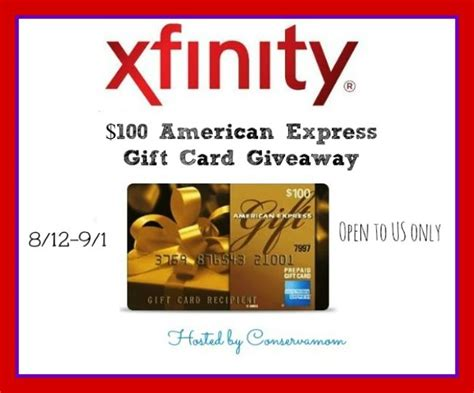 Comcast Gift Card - win a 100 amex gift card from xfinity giveaway