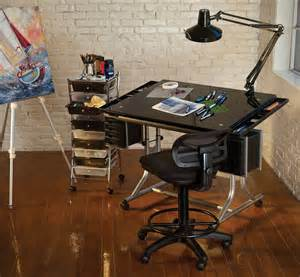 Artists Drafting Table Alvin Craftsmaster Ii Glass Top Deluxe Drawing Table Rex Supplies