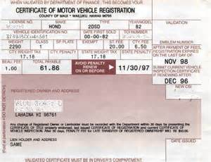 register new car in california registration certificate car pictures car