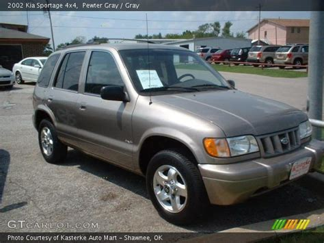 2002 kia sportage pewter gray 2002 kia sportage 4x4 gray interior