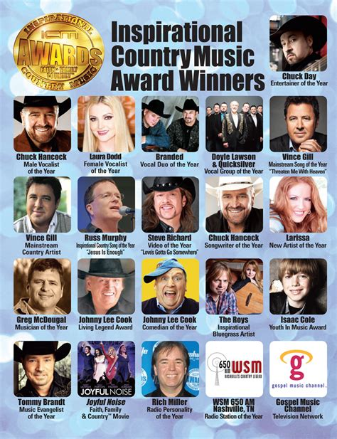 country music award results 2012 powersource 12 12 awardwinners isaac cole music