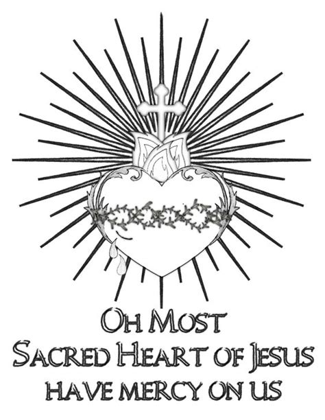 sacred heart coloring page pinterest the world s catalog of ideas