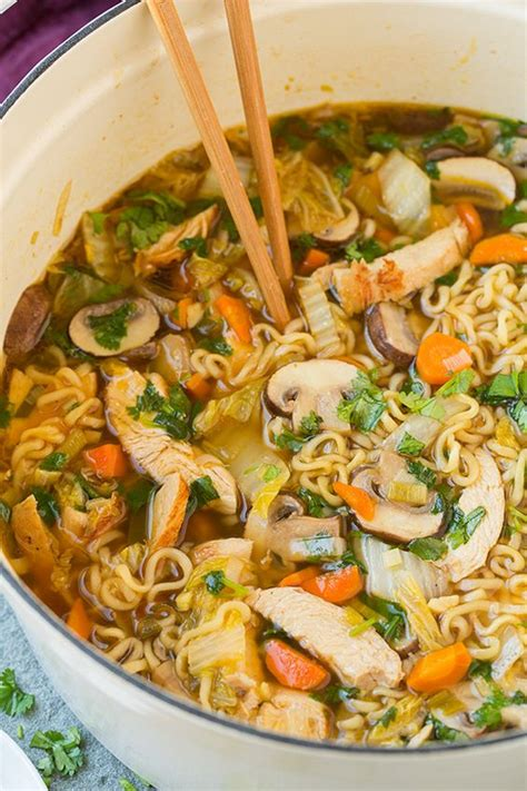 ramen noodle soup recipes vegetable asian chicken noodle soup recipe ramen chicken