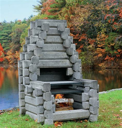 the acadia precast outdoor fireplaces