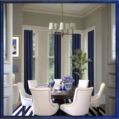 blue dining room curtains love the blue dining room pinterest navy curtains i