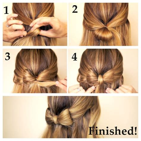 Bow Hairstyle Step By Step by Hair Bow Step 1 Take A Top Layer Of Your Hair And Pull