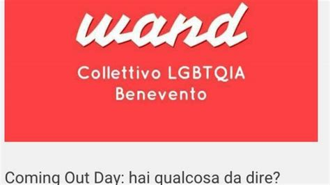 omosessualit 224 e coming out il test collettivo wand