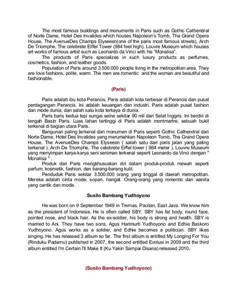 biography leonardo da vinci dalam bahasa inggris beberapa macam teks dalam bahasa inggris beserta terjemahannya
