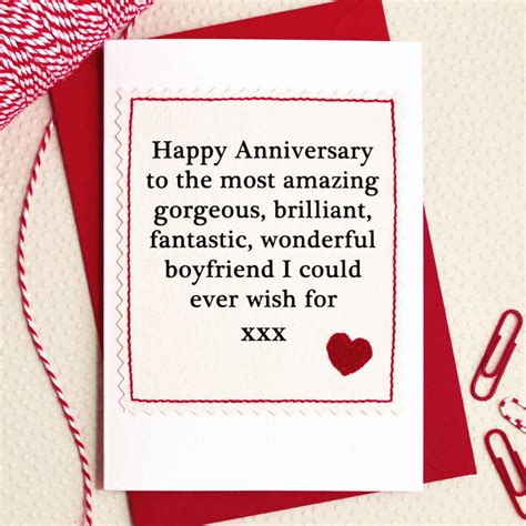 Lds Wedding Anniversary Ideas by Husband Boyfriend Handmade Anniversary Card By