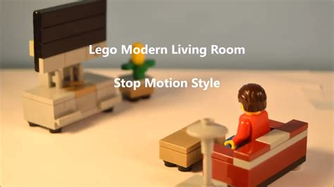 build a living room modern lego living room furniture stop motion build