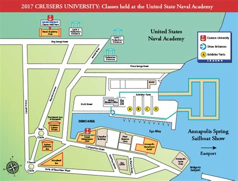 map usna annapolis boat shows - Annapolis Boat Show Map