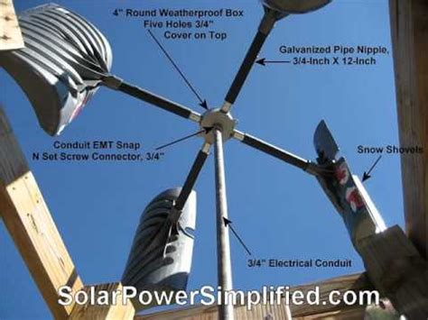 Handmade Windmill - easiest windmill plans for wind power doovi