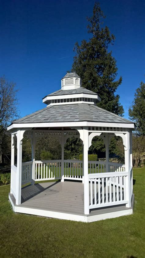 Backyard Creations Steel Roof Gazebo Reviews Gazebos With Metal Roof Gazebos By Available Options