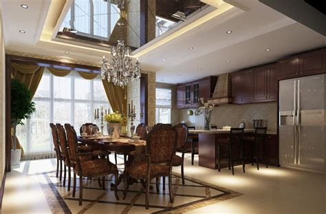 dining room kitchen design modern ceiling design for dining room and kitchen 3d