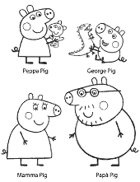 peppa pig characters coloring pages peppa pig printable coloring pages for free george mummy
