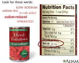 low sodium diet medlineplus encyclopedia
