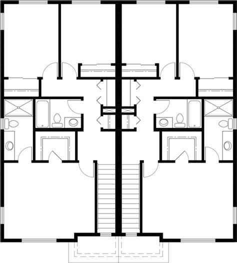 four bedroom duplex house plans townhouse plans row house plans 4 bedroom duplex house plans