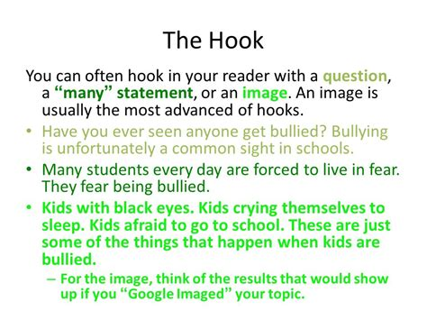 thesis statement about school bullying bullying essay hooks essay writing it training and