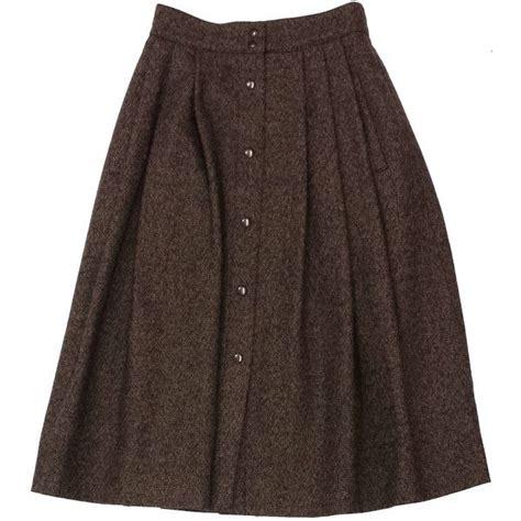 pre owned laroche brown wool tweed midi skirt 370 brl