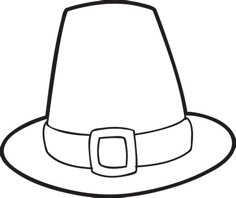 Free Printable Pilgrim Hat Coloring Page For Kids Thanksgiving Coloring Pages 4327 Supplyme Free Printable Thanksgiving Hat Templates