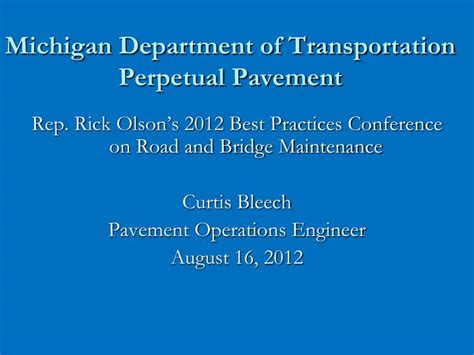 pavement design engineer job description ppt michigan department of transportation perpetual